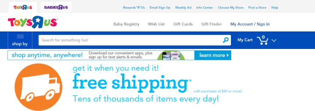 Toys R Us Free shipping (1)